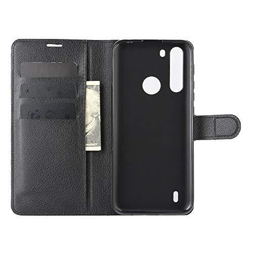"""Capa Capinha Carteira 360 Para Motorola Moto One Fusion Tela De 6.5"""" Polegadas Case Couro Flip Wallet Anti Impacto - Danet (Preta)"""