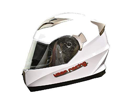 keep-racing® Motorsporthelm, Karthelm, Integralhelm, Größe XS - XL, weiß, ECE / 22-05