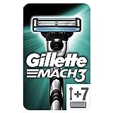 Gillette Rasoir Mach 3 Homme + 7 Lames de Rasoir [OFFICIEL]