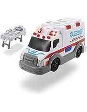 Dickie Toys 203302004 – Action Series Ambulans, ambulans, inklusive batterier, 15 cm