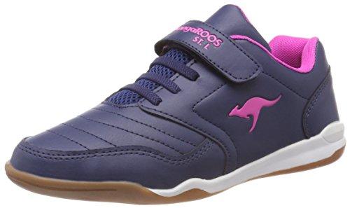 KangaROOS VanderYard Unisex-Kinder Sneaker, Blau (Dark Navy/Daisy Pink 4204), 34 EU