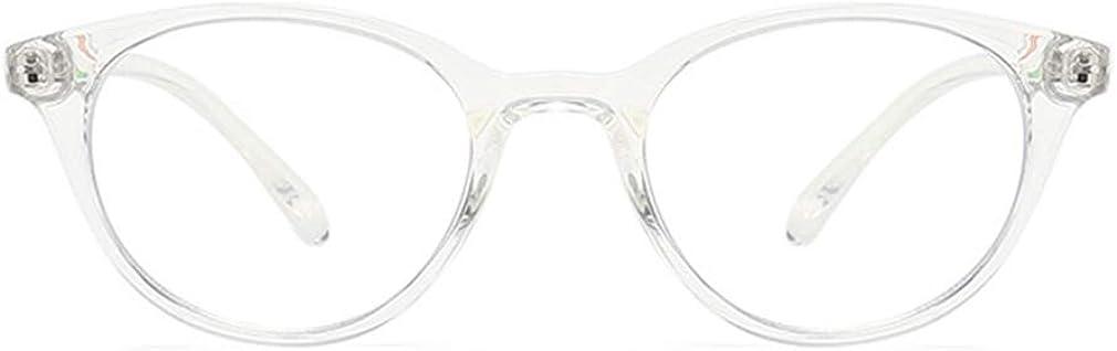 Yying Occhiali per Bambini Luce Llu Ragazzo Ragazza Bambino Lente Trasparente Computer Trasparenti Anti Blu Occhiali L030