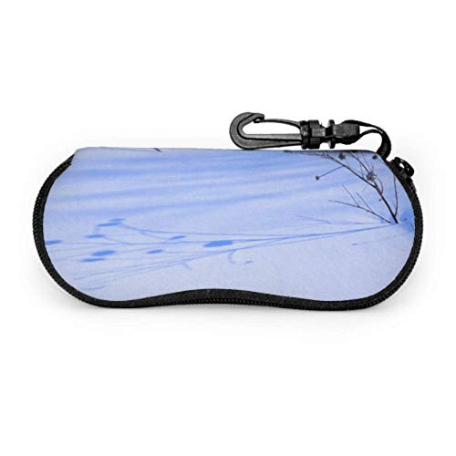 Plant Out Of Ice Cold Snow Winter Sport Sunglass Case Best Sunglass Case Light Portable Neoprene Zipper Soft Case Unique Eyeglass Case