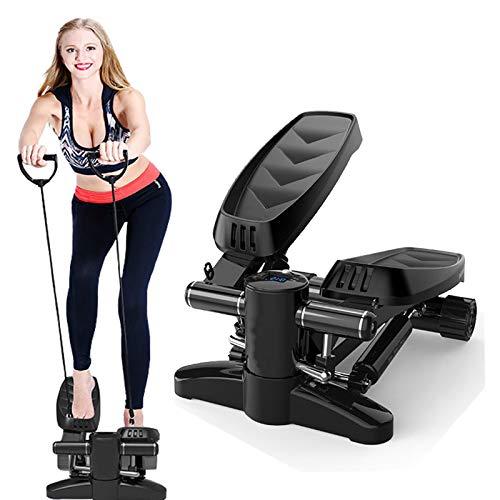 WHY Twister Stepper, Up Down Stepper con Cuerdas Eléctricas Y Pantalla Multifunción Swing Stepper Hogar Silent Twist Equipo De Fitness para Sala De Estar, Oficina, Gimnasio