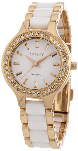 DKNY Damen-Armbanduhr XS Analog Quarz Verschiedene Materialien NY8141