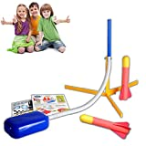 Hieefi Rocket Launcher Toy Jump Rocket Set Beinhaltet 2 Raketen Spielen Raketen-spaß-Spielzeug Im Freien Spiel Luft-raketengeschenk Für Jungen Und Mädchen 1set