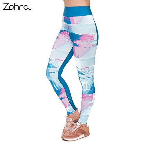 MAOYYMYJK Hohe Taille Blue Litch Smoker Mode Frau Sexy Druck Legging Workout Fitness Bottoms Slim Fit Trainingshose