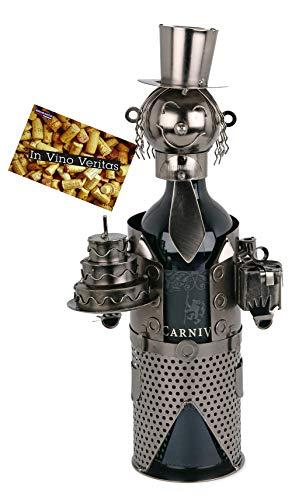BRUBAKER Flaschenhalter Geburtstag Metall Skulptur Geschenk