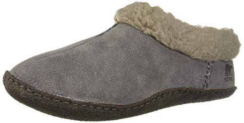 Sorel Women's Nakiska Slipper, quarry, dark stone, 8 M US