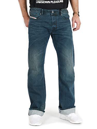 Diesel Uomo Jeans Zatiny R4E28 Bootcut Regolari (31W / 30L, Blu)