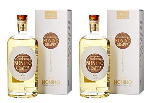 Nonino Distillatori Grappe aus Italien 2er Sparpack Grappa Lo Chardonnay Monovitigno (2 x 0,7 Liter)