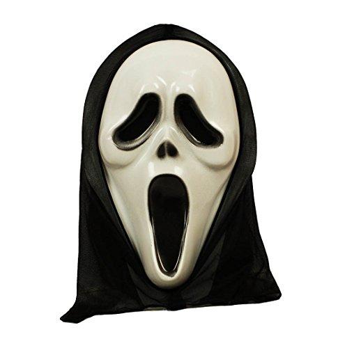 HAAC Maske Geist Geistermaske für Halloween Fasching Karneval 35 cm x 20 cm