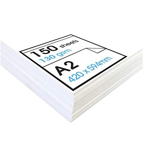 Artway Studio - Zeichenpapier für trockene Zeichen- und Maltechniken - säurefrei - lose Blätter - 130 g/m² - A2 (150 Blatt)