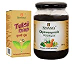 Krishna's Herbal & Ayurveda Chyavanprash Avaleha made using only fresh amla, A2 Ghee & cold pressed sesame oil in Glass Bottle with free Tulsi Drop 10ml | Ayurvedic Immunity Booster | Support For All Age Groups – Chyawanprash 500 g