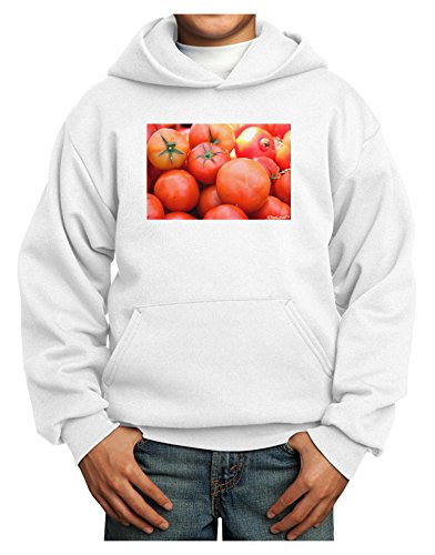 TOOLOUD Buy Local Produce Tomatoes Youth Hoodie White Extra-Large