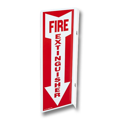 (Lot of 10) All Rigid Plastic Fire Extinguisher Sign 4