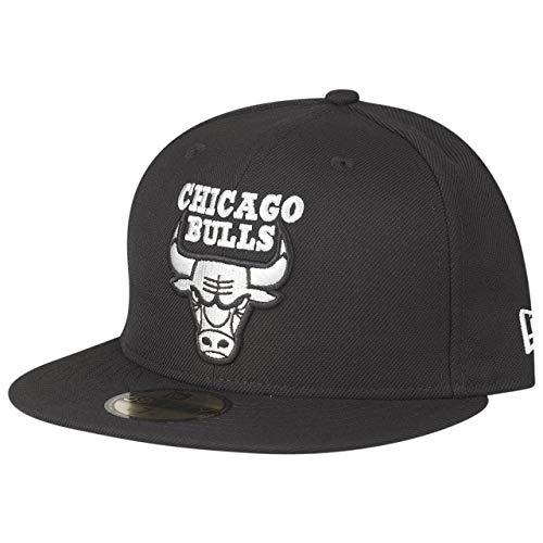 New Era 59Fifty - Gorra, diseño de los Chicago Bulls, color negro y gris, Unisex adulto Infantil, negro, 7 1/4