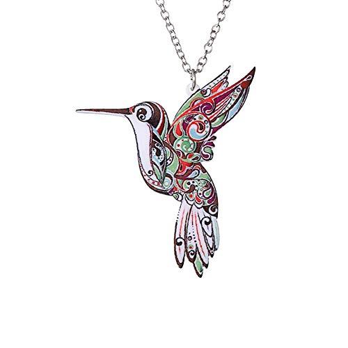 Demarkt Kolibri Design Anhänger Halskette Damen Mann Art Bekleidungszubehör