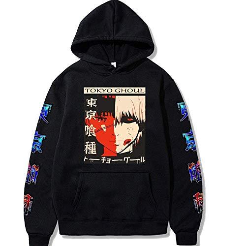 Felpa con cappuccio unisex Natale Halloween Anime Tokyo Ghoul Abbigliamento con Kaneki Pullover Felpa Casual Jumper, Anime Tokyo Ghoul Felpe con cappuccio Autunno Inverno Abbigliamento streetwear