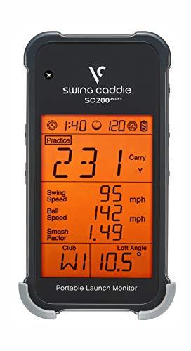 Voice Caddie Unisex's SC200+ Launch Monitor Swing Analysis, Black, One Size