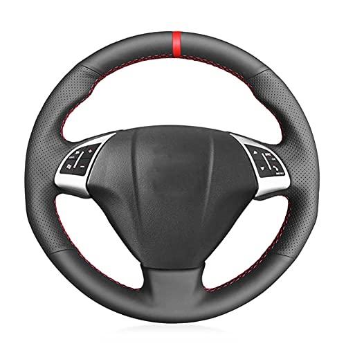 MIOAHD Funda para volante de coche de piel negra, para Fiat Grande Punto Bravo Linea 2007-2019 Qubo Doblo Opel Combo