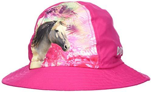 maximo Mädchen Hut Horse Mütze, Mehrfarbig (DKL.Pink/Multicolor 5799), 55/57