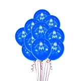 TOYANDONA Space Party Balloons Balloon Decoration Rocket Space Balloons Party Supplies Set 10Pcs