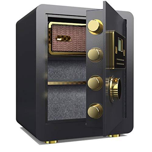 Kluis veiligheidsvingerafdruk-elektronische sleutelsluiting-staalgeld-doos-zwart 3 lagen met binnenvak 38 * 33 * 45 cm meubelkluis Black 1