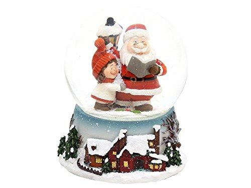 Hermosa bola de nieve de adorno (tamaño aproximado) Dimensiones: 8,8cm x 7cm x 6,5cm.