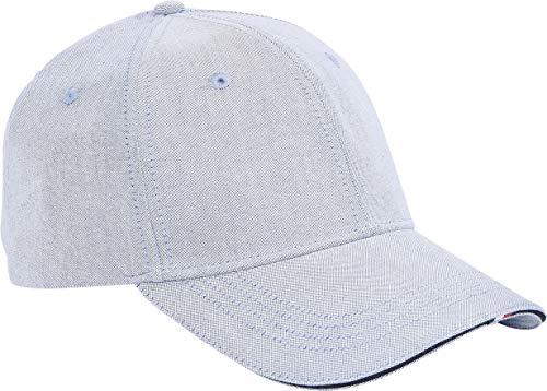 Tommy Hilfiger Herren Recycled Woven Cap Hut, Hellblau Chambray, Einheitsgröße