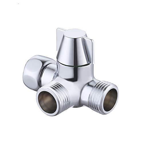KES ABS 3-Weg-Umstellventil Umschalter für Duschsystem, Chrom Poliert, PV8