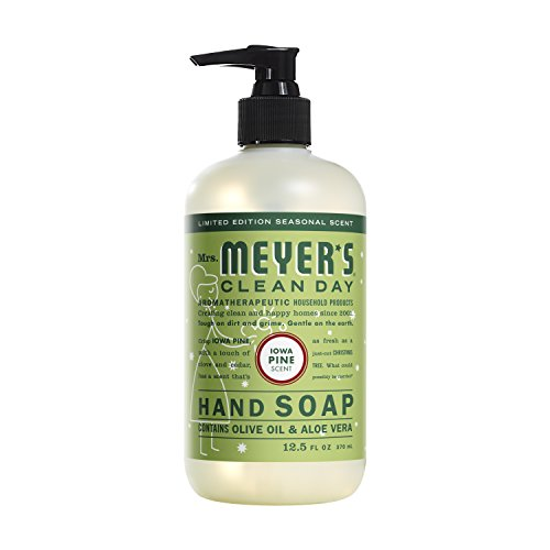 Mrs. Meyer's Clean Day Liquid Hand Soap, Cruelty Free and Biodegradable Formula, Iowa Pine Scent, 12.5 oz- Pack of 2