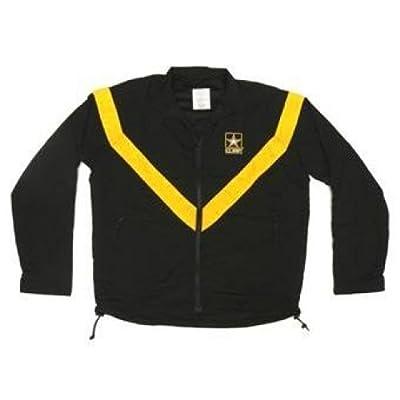 4 Star Military Surplus Military Surplus G.I. Issue Army PT Uniform Jacket/APFU, Black/Gold, Large, WAPFUJL