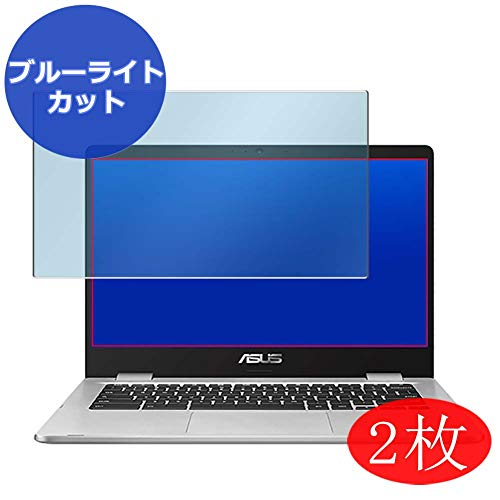 【2 Pack】 Synvy Anti Blue Light Screen Protector for ASUS Chromebook C423 C423NA 14' Screen Film Protective Protectors [Not Tempered Glass]