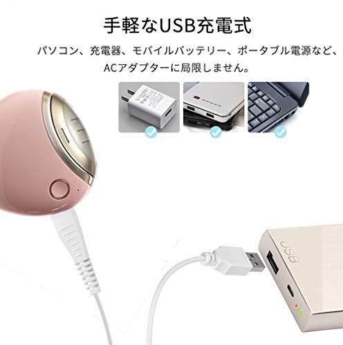H&RSTORE電動爪切りUSB充電式二段階スピート日本語取扱書付きピンクiMoll-G1