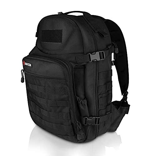 KAYZA Backpack SPARK 35L. Robuster Outdoor Rucksack Herren mit Molle System und Schaufeltasche. Als Wanderrucksack, Sportrucksack, Laptop Rucksack.