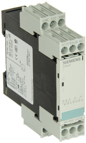 Siemens 3RS18 00-1HQ00 Interface Relay, Rugged Industrial Enclosure, Screw Terminal, 22.5mm Width, 3 CO Contacts, 24VAC/VDC and 110-120VAC Control Supply Voltage