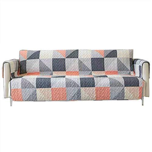 Jklt Funda de sofá práctica para sofá, funda protectora de algodón puro, impresión universal, funda de cojín de sofá para mascotas (color: multicolor, tamaño: 198 x 219 cm)