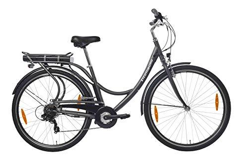Teutoburg Senne Pedelec Citybike leicht Elektrofahrrad, 28 Zoll, mit 6-Gang Shimano Kettenschaltung, 250W und 10,4 Ah / 36 V Lithium-Ionen-Akku*