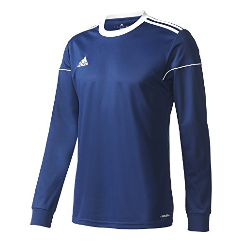 adidas Herren Squadra 17 Long Sleeve Trikot, Dark Blue/White, L