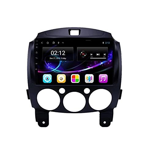 Radio de Audio Estéreo para Coche con Bluetooth de Doble Din, con Navegación GPS Wifi Soporte de Pantalla Táctil de 9 '' Enlace Espejo/Control del Volante / 4G / Plug And Play, para Mazda 2 2007-201