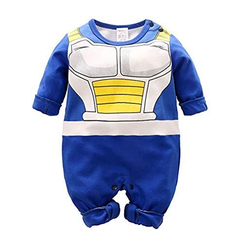 Dragon Ball Z Design Baby Jungen Mädchen Strampler Cosplay Kostüm Goku-inspiriert Säugling Outfit Overall Kleidung, A Lange Ärmel, 59 CM / 1-3 Monate
