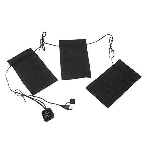 Wnuanjun 1set USB Calefacción Vestimenta Vestido 1-FOR-3 5V DIY Calefacción eléctrica Chaleco Paño Calefacción Cojín de Ropa Impermeable y Plegable # 4o