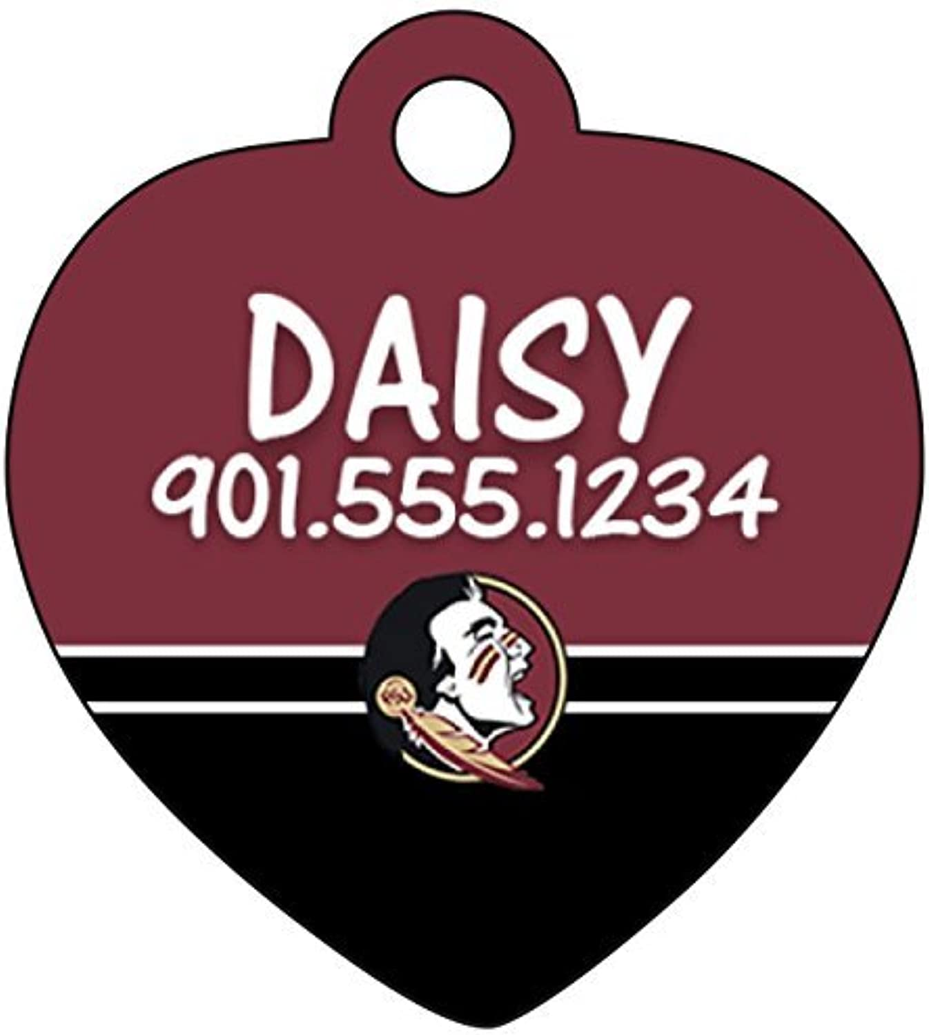Florida State Seminoles Pet Id Tag for Dogs & Cats Personalized w  Name & Number