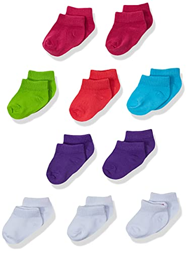 Hanes Toddler Girls' Low Cut Socks 10-Pack, Assorted, 4/ 12-24 Mos