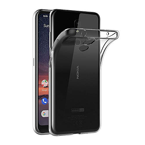 AICEK Hülle Compatible für Nokia 3.2 Transparent Silikon Schutzhülle für Nokia 3.2 Case Clear Durchsichtige TPU Bumper Nokia 3.2 Handyhülle (6,26 Zoll)