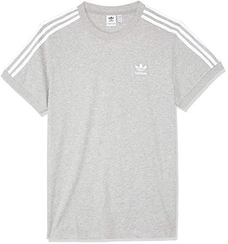 Adidas Damen 3 Stripes Tee T-Shirt, Grau (medium grey heather), 36
