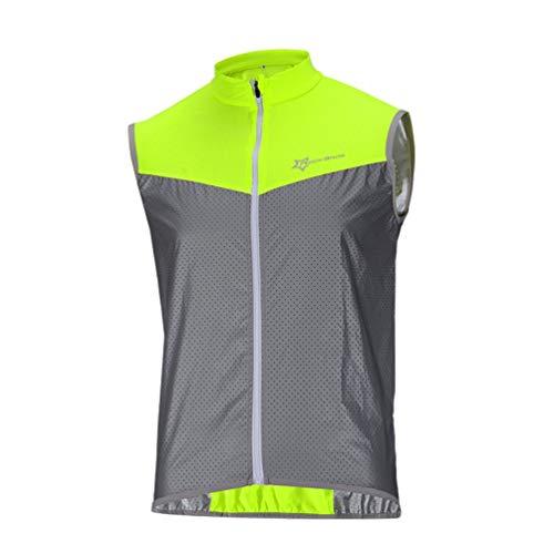 ROCKBROS Fahrrad Weste Reflektierende Windfest Atmungsaktiv Elemente Kurze Jersey für Sport Aktivitäten(Asia XXL=Europa L)