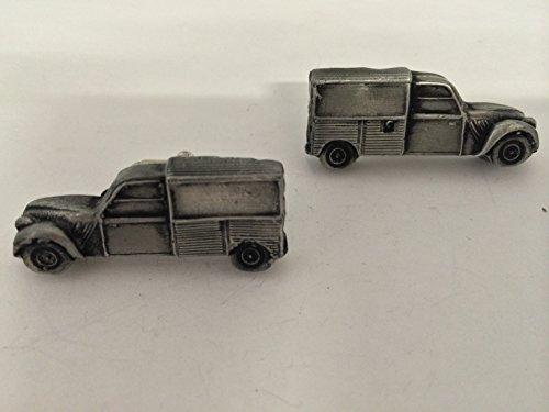 Citroen 2CV Van 3D-Boutons de manchette Homme-Classique-Bouton de manchette en étain effet ref44