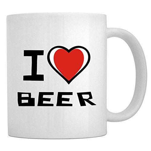 Teeburon I Love Beer Taza